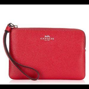 ❤️COACH Women's Wallet CORNER ZIP WRISTLET